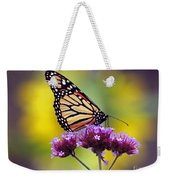 Monarch With Sunflower Weekender Tote Bag