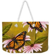 Monarchs And Coneflower Weekender Tote Bag