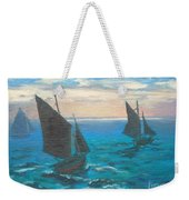 Monet's Boats Leaving The Harbor Weekender Tote Bag
