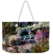Monet's Bridge In Autumn Weekender Tote Bag