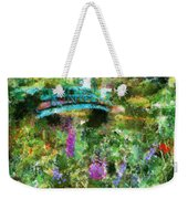 Monet's Bridge In Spring Weekender Tote Bag