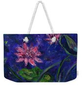 Monet's Lily Pond II Weekender Tote Bag by Xueling Zou