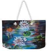 Monet's Pond With Lotus 11 Weekender Tote Bag
