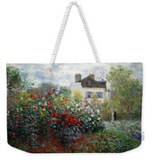 Monet's The Artist's Garden In Argenteuil  -- A Corner Of The Garden With Dahlias Weekender Tote Bag