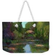 Monet's Water Lily Pond Weekender Tote Bag