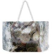 Money Frozen In A Jar Weekender Tote Bag by Skip Nall