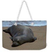 Monk Seal Sunning Weekender Tote Bag by Brian Harig
