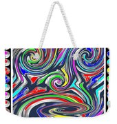 Monkey Dance Created Out Of Beads Of The Border Creative Digital Graphic Work Cartoon Comedy Backgro Weekender Tote Bag