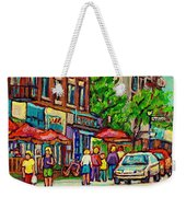 Monkland Tavern Corner Old Orchard Montreal Street Scene Painting Weekender Tote Bag