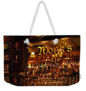 Monks Cafe Weekender Tote Bag by Rona Black