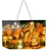 Monks In Meditation Weekender Tote Bag