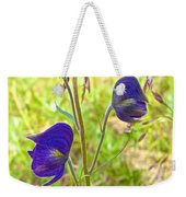 Monkshood On Alpine Tundra Trail At  Eielson Visitor's Center In Denali Np-ak  Weekender Tote Bag