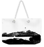 Monochromatic Godrevy Island And Lighthouse Weekender Tote Bag