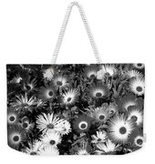 Monochrome Asters Weekender Tote Bag