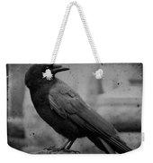 Monochrome Crow Weekender Tote Bag
