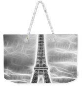 Monochrome Eiffel Tower Fractal Weekender Tote Bag