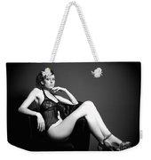 Monochrome Elegance Weekender Tote Bag
