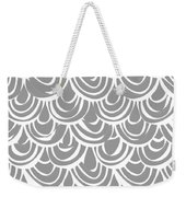 Monochrome Scallop Scales Weekender Tote Bag