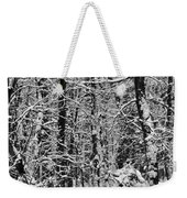 Monochrome Winter Wilderness Weekender Tote Bag