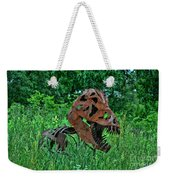 Monster In The Grass Weekender Tote Bag