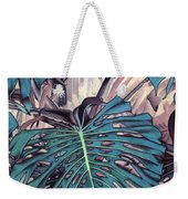 Monstera Blues Weekender Tote Bag