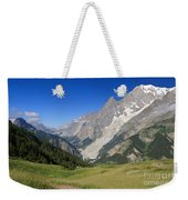 mont Blanc from Ferret valley Weekender Tote Bag
