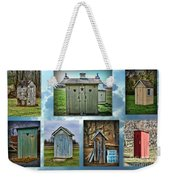 Montage Of Outhouses Weekender Tote Bag