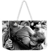 Montagnard Woman With Umbrella And Child Weekender Tote Bag