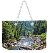 Montana River And Trees Weekender Tote Bag