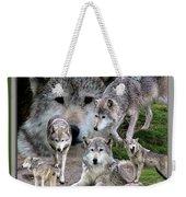 Montana Wolf Pack Weekender Tote Bag