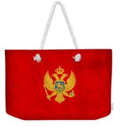 Montenegro Flag Vintage Distressed Finish Weekender Tote Bag