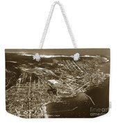 Aerial Of Monterey And Pacific Grove  California Oct. 25 1934 Weekender Tote Bag