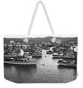 Monterey Harbor Full Of Purse-seiner Fishing Boats California 1945 Weekender Tote Bag