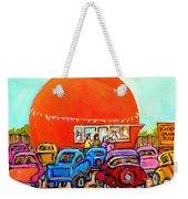 Montreal Art Orange Julep Paintings Montreal Summer City Scenes Carole Spandau Weekender Tote Bag