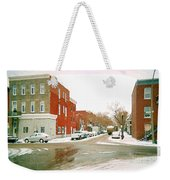 Montreal Art Winter Street Scene Painting The Point Psc Rowhouses In January Snow Cspandau Weekender Tote Bag