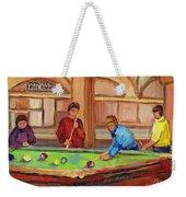 Montreal Pool Room Weekender Tote Bag