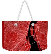 Montreal Street Map - Montreal Canada Road Map Art On Color Weekender Tote Bag