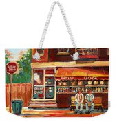 Montreal Street Scene Paintings Weekender Tote Bag