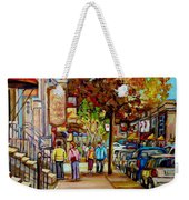 Montreal Streetscenes By Cityscene Artist Carole Spandau Over 500 Montreal Canvas Prints To Choose  Weekender Tote Bag