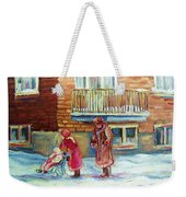 Montreal Winter Scenes Weekender Tote Bag