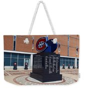 Monument For The Montreal Canadiens Weekender Tote Bag