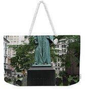 Monument John Watts Trinity Churchyard New York Weekender Tote Bag