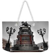 Monument To Russian Emperor Nicholas I In St . Petersburg . Russia Weekender Tote Bag