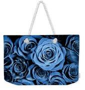 Moody Blue Rose Bouquet Weekender Tote Bag