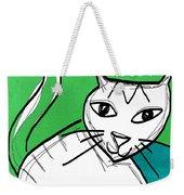 Moody Cat- Pop Art Weekender Tote Bag