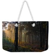 Moody Forest Happy Sun Weekender Tote Bag