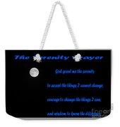 Moon - Serenity Prayer - Blue Weekender Tote Bag