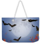 Moon And Bats Weekender Tote Bag