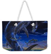 Moon Doggie Off00124 Weekender Tote Bag by Carey Chen