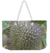 Moon Flower Seed Pod Weekender Tote Bag